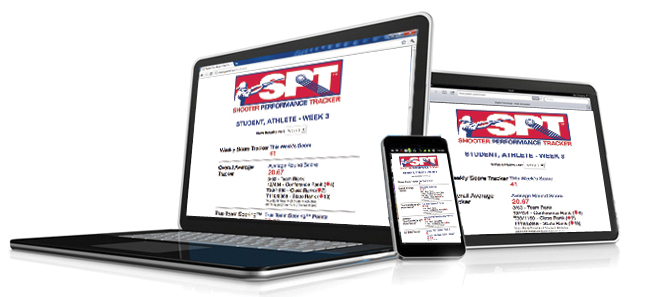 Athletes can view scores and rankings from their Shooter Performance Tracker®on their computer, phone or tablet devices.